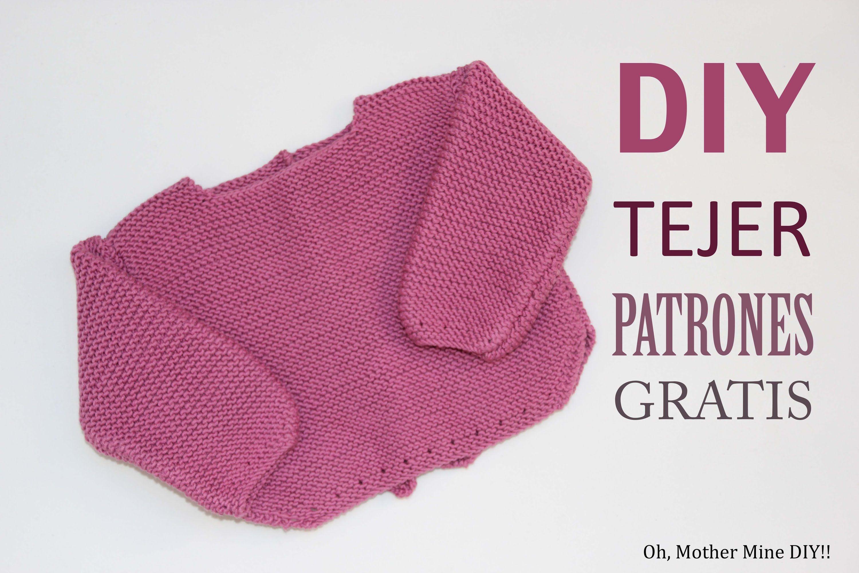 af317ea14 DIY de tejer con dos agujas  como hacer un jersey para bebe
