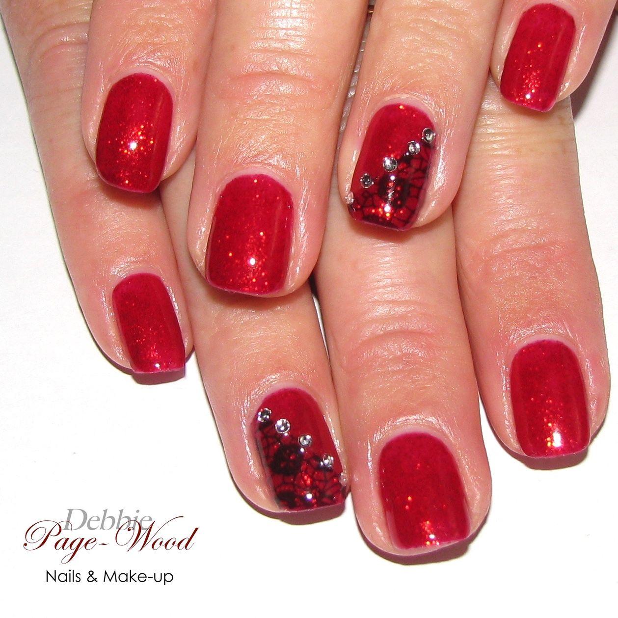 Be My Valentine Lace Nails Gel Manicure Colors Manicure