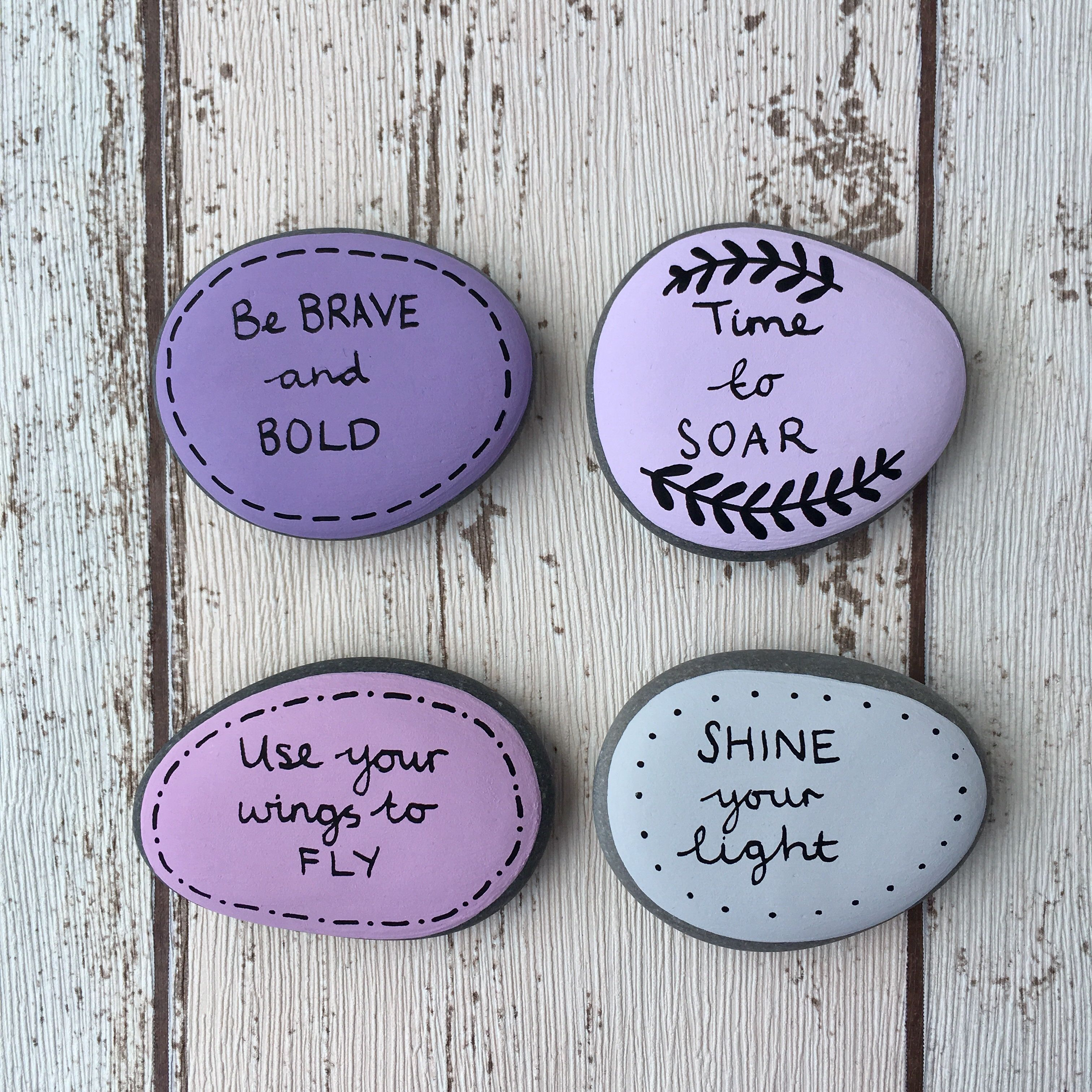 Positive Affirmation Pebbles To Help You Be Brave And Bold