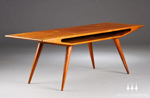 Atomic Danish modern mid century coffee table in teak Mid Century