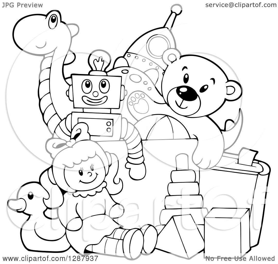 Toy Clipart Black And White Images Clipart Black And White Clip Art Teddy Bear Toys
