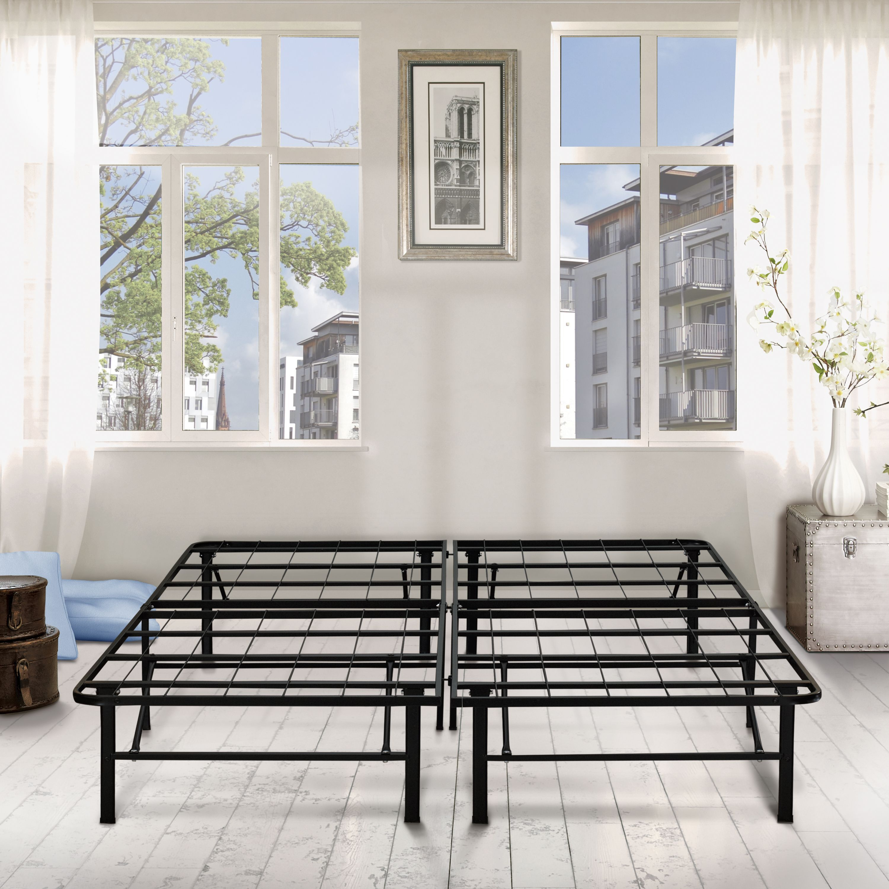 "Premier 14"" Platform Metal Bed Frame with Under Bed"