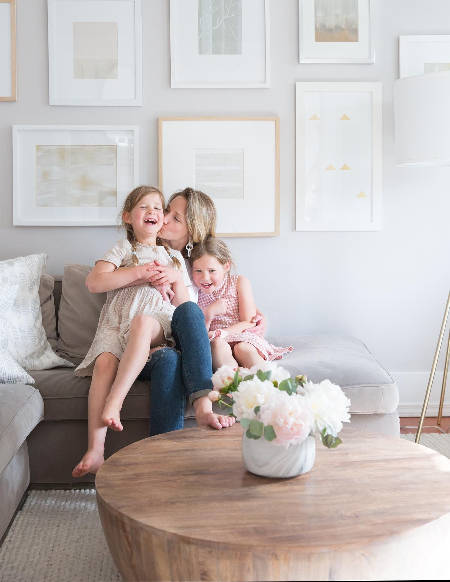 Mom And Minis Cuddling In Living Room Family Friendly Living Room Childrens Interiors Kids Interior Familyfriendly living room color