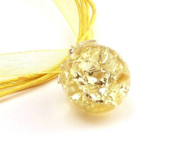 Fried Marble Necklace Lemon Yellow by InstinctivelyIndie on Etsy, $11.00