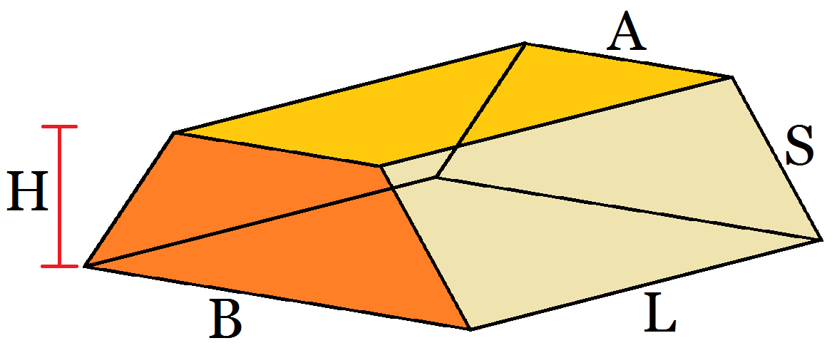 how to find the volume of a trapezoidal prism formula