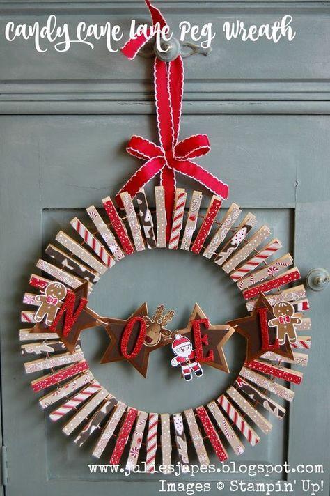 33 superbes idées de couronnes de Noel pour votre porte d'entrée #couronnedenoel