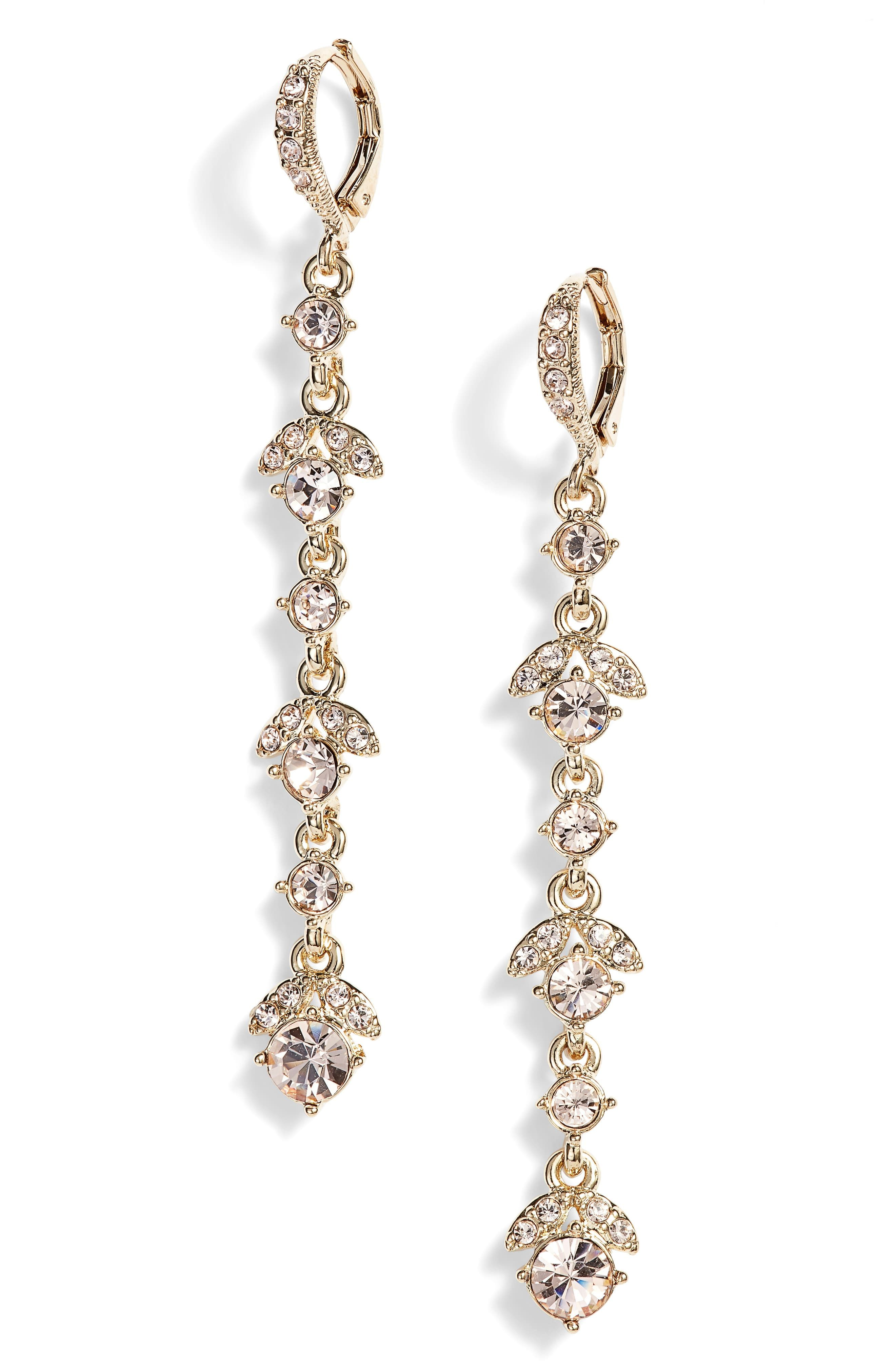 d8fd2716b4737 Women's Givenchy Crystal Linear Drop Earrings   Products in 2019 ...