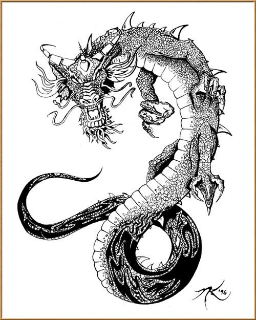 Tatuajes de dragones chinos y dragones japoneses | Tatuajes para ...