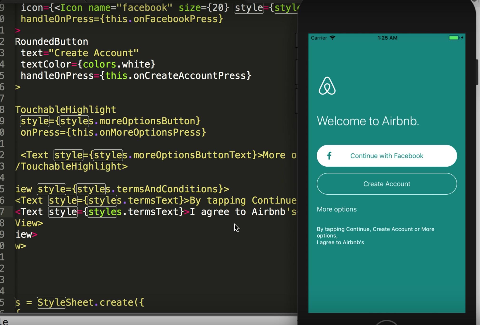 1 Airbnb Clone using React Native - Home Screen   Design