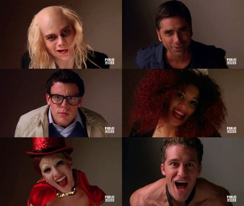 """Glee, Rocky Horror Picture Show! """"Creature of the night!"""""""