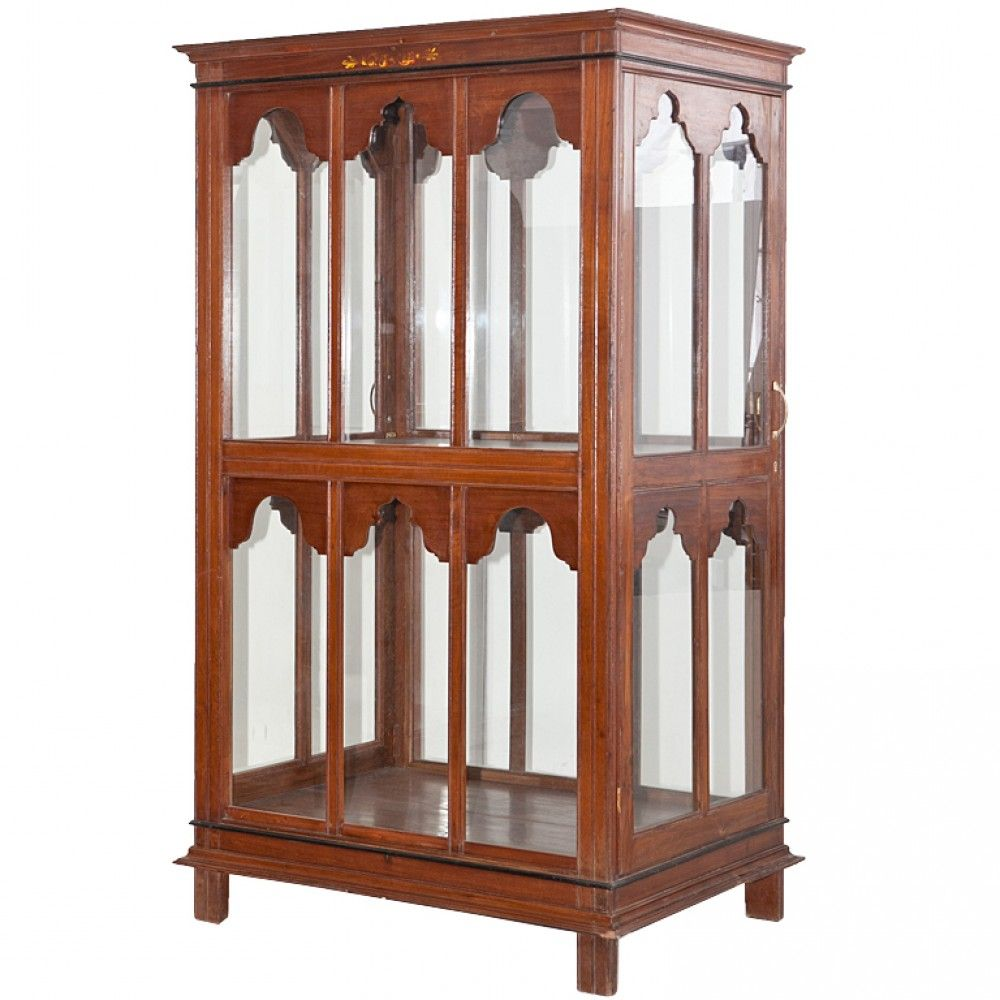 #AntiquesCabinet: Display Case From India Display Cabinet From India  Probably Used In An Old