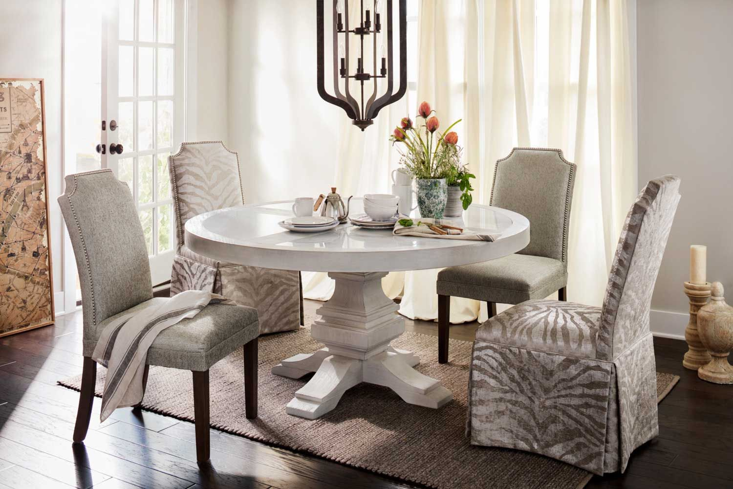 The Lancaster Round Dining Collection American Signature