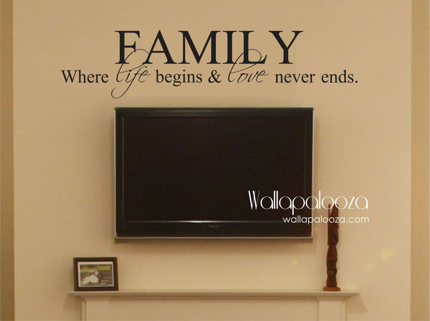 Family Where life begins and love never ends - Family Wall Decal by ...