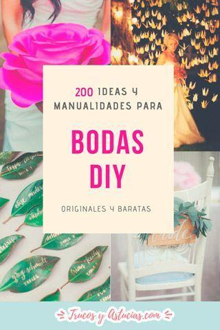 Ideas Y Manualidades Para Decorar Bodas Diy Originales Y Baratas - Manualidades-baratas