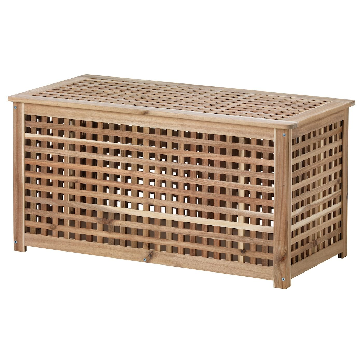 Hol Storage Table Acacia 98x50 Cm Ikea In 2021 Table Storage Storage Footstool Wicker Side Table [ 1400 x 1400 Pixel ]