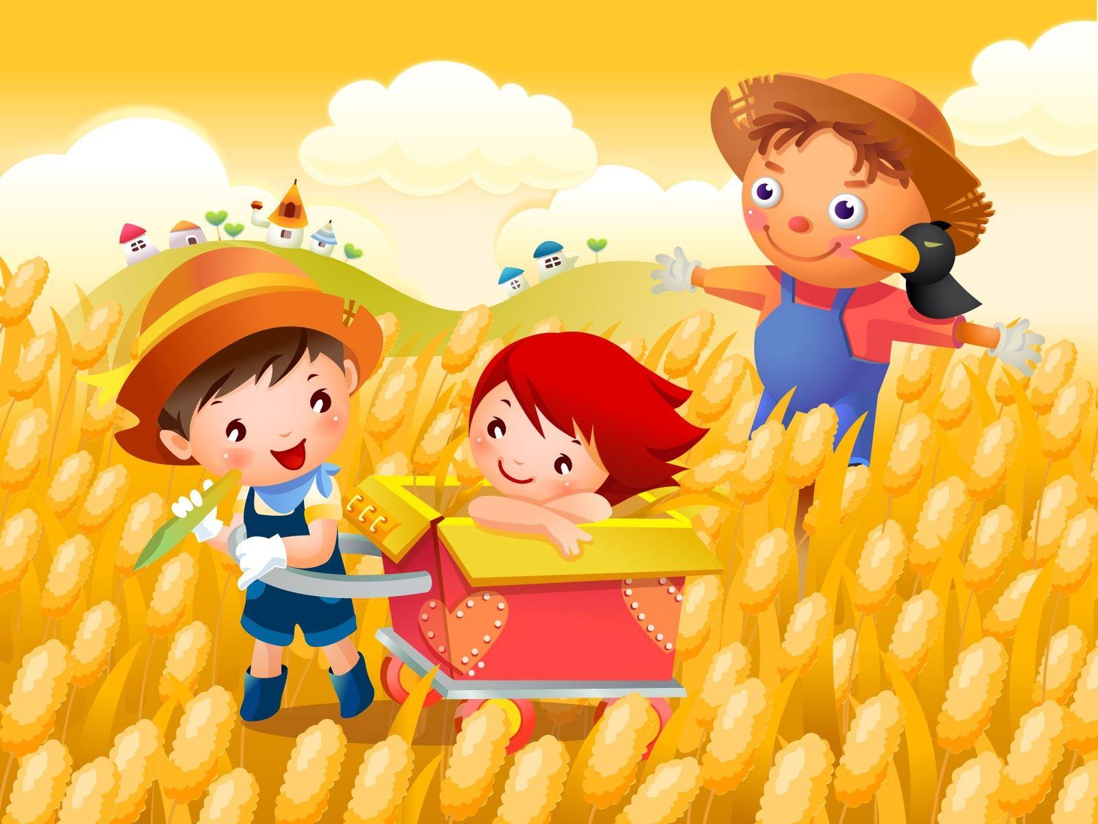 Vector Cartoon Child Wallpaper Al 5 1600x1200
