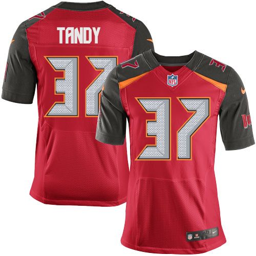 613601cb971 Nike Elite Keith Tandy Red Men's Jersey - Tampa Bay Buccaneers #37 NFL Home