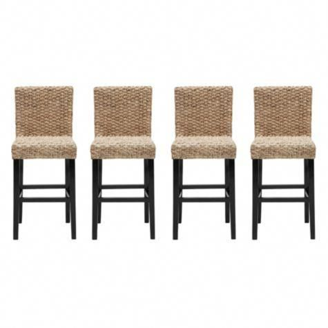 Chic Combo 4 Hyacinth Counter Stools From Z Gallerie