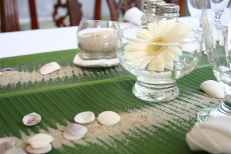 Banana Leaf Table Runner. I Guess Anything Tropical Related Could Be  Filipiniana As Well