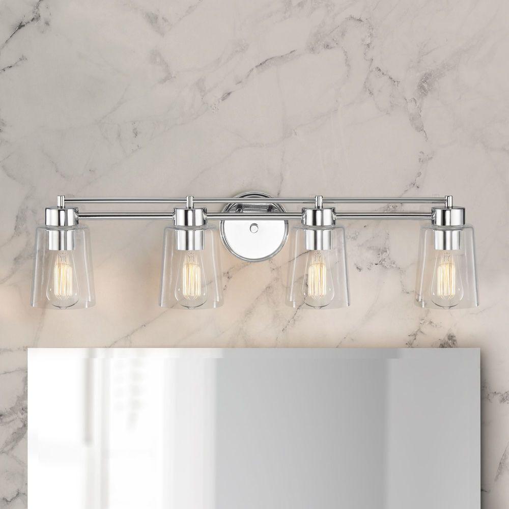 Chrome Bathroom Light At Destination Lighting In 2021 Bathroom Light Fixtures Chrome Bathroom Light Fixtures Modern Bathroom Lighting