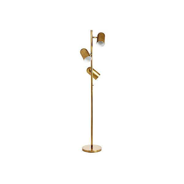 Arteriors For One Kings Lane Priya 3 Light Floor Lamp Gold Floor Lamps Gold Floor Lamp Retro Floor Lamps Retro Lighting