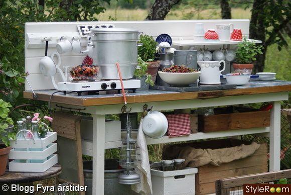 outdoor kitchen utomhuskök utekök inredning on outdoor kitchen vintage id=20166