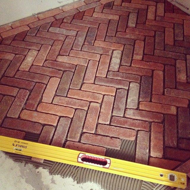Kristin Casey On Instagram Love This Little Detail On My Office Lantern Improcrastinating Needtofocus Brick Flooring Flooring House Flooring