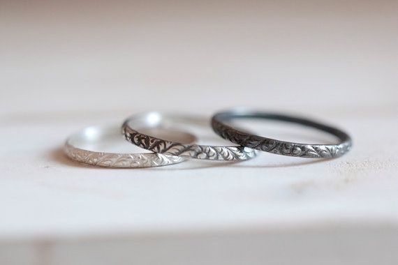 Ring Rose Mit Muster Silber 925 000 6