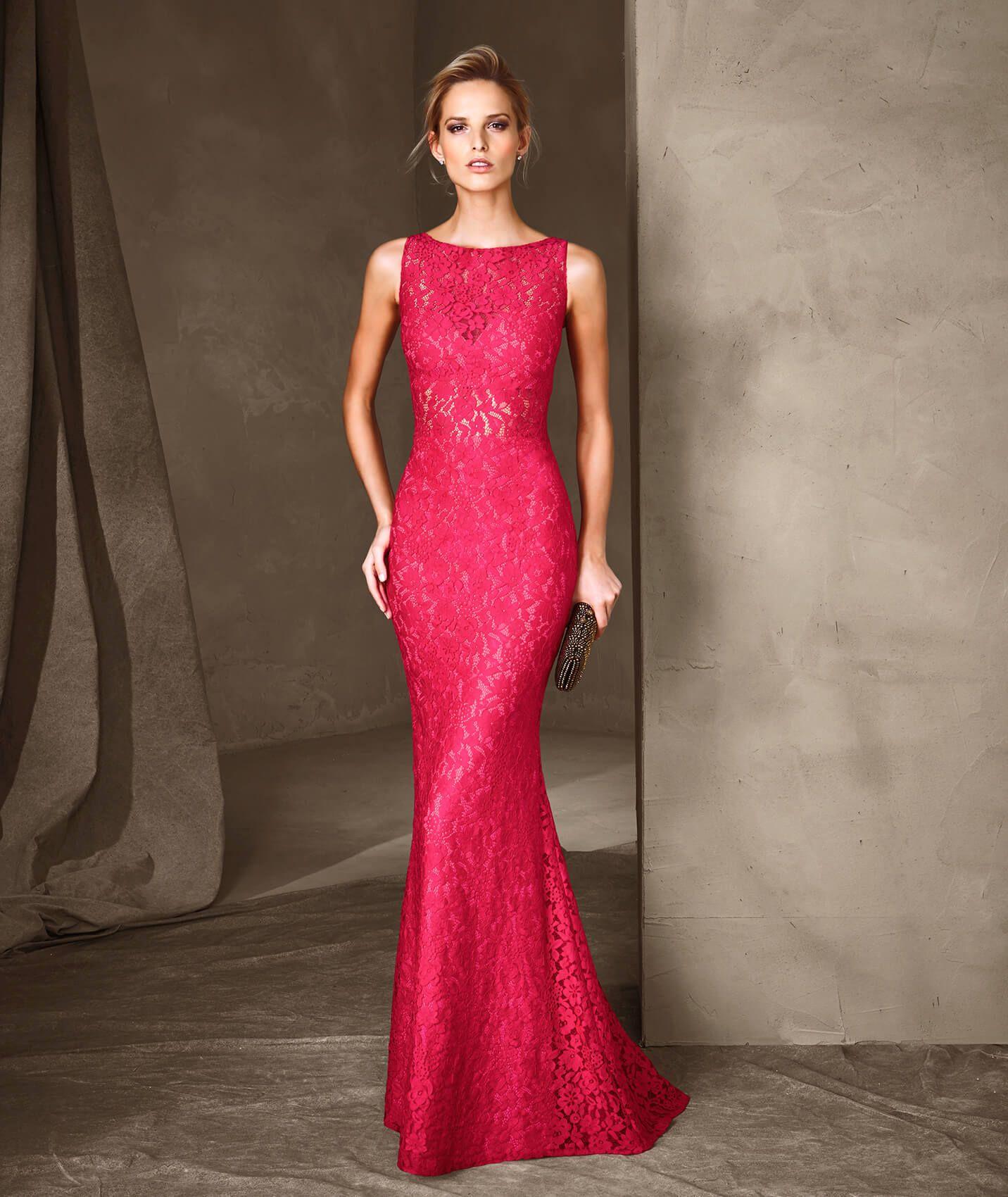 CARINA - Vestido de festa longo de renda  dc4c02680786