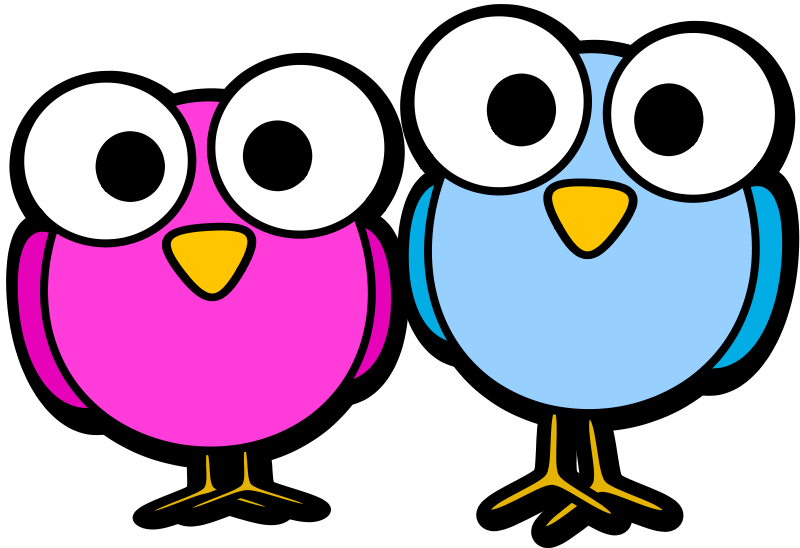 Clipart Googley Eye Birdies Cartoon Birds Art Drawings For Kids Animal Doodles