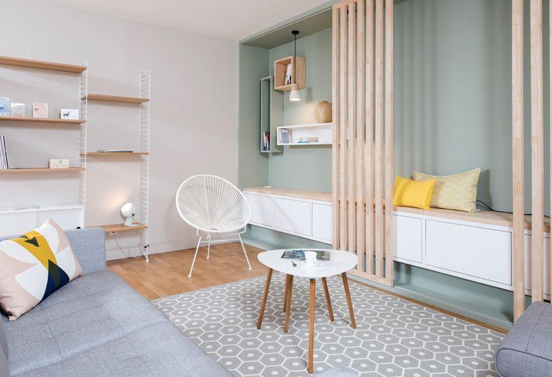 Ambiance scandinave aménagement lyon décoration meuble sur mesure rénovation appartement
