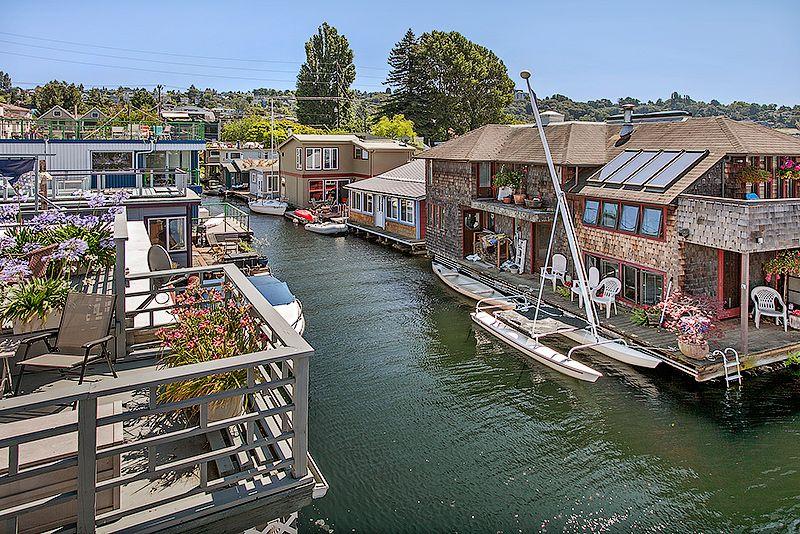 Elegant Houseboat Living · Seattle Floating Homes For Sale