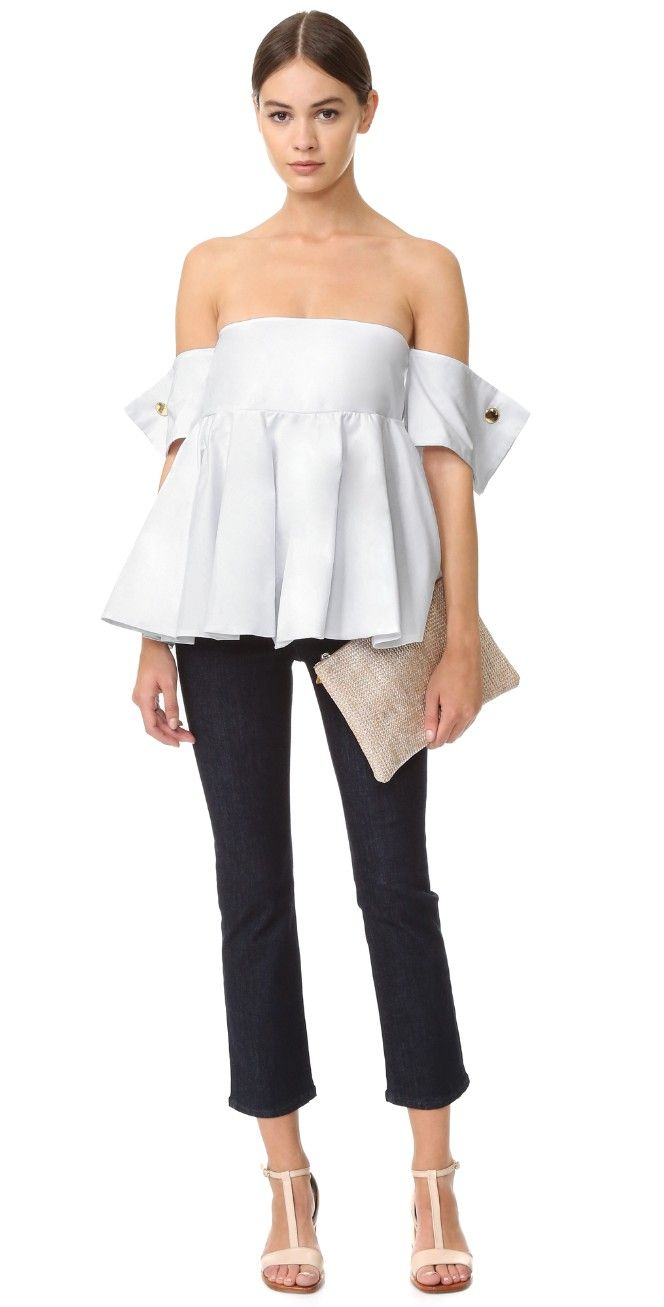 Viva Aviva French Cuff Ballerina Top | SHOPBOP
