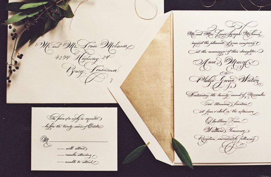 Photography: Natalie Watson - nataliewatsonphotography.com Calligraphy: Calligraphy By Maria-Helena - Calligraphybymariahelena.com   Read More on SMP: http://www.stylemepretty.com/2016/03/10/blackberry-farm-winter-wedding/