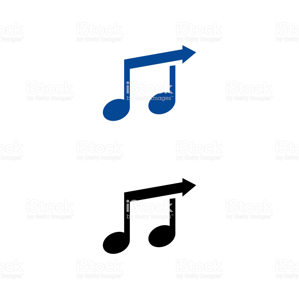 A Set Of Music Note Icons Music Notes Free Vector Art Notes