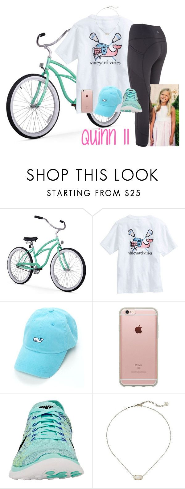 """""""Quinn: bike ride"""" by mypreppyfamily ❤ liked on Polyvore featuring Vineyard Vines, Incase, NIKE and Kendra Scott"""