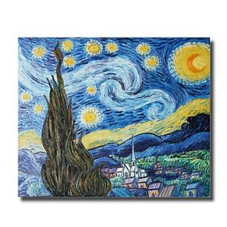 Starry Night Oil Painting by Vincent Van Gogh Free ...