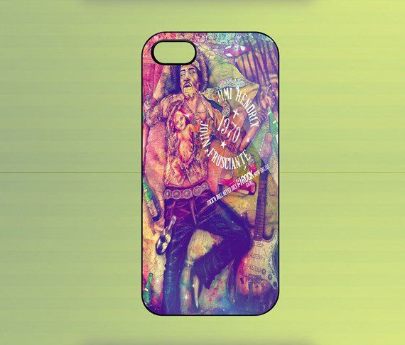 Jimi Hendrix Glitter Case For iPhone 4/4S, iPhone 5/5S/5C, Samsung Galaxy S2/S3/S4, Blackberry Z10