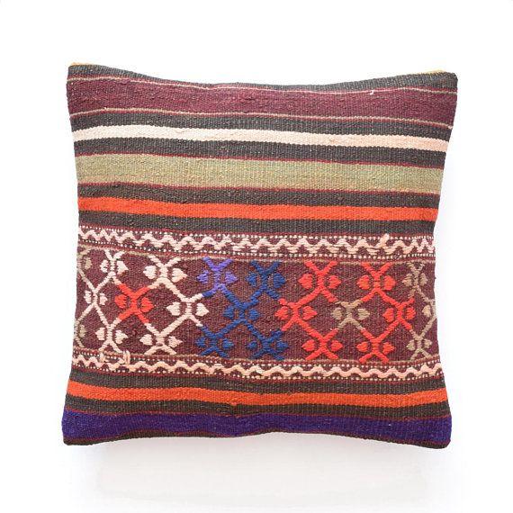 Kilim Pillow 16 X 16 Kilim Pillow Pillow Cover 16 X16 40x40cm