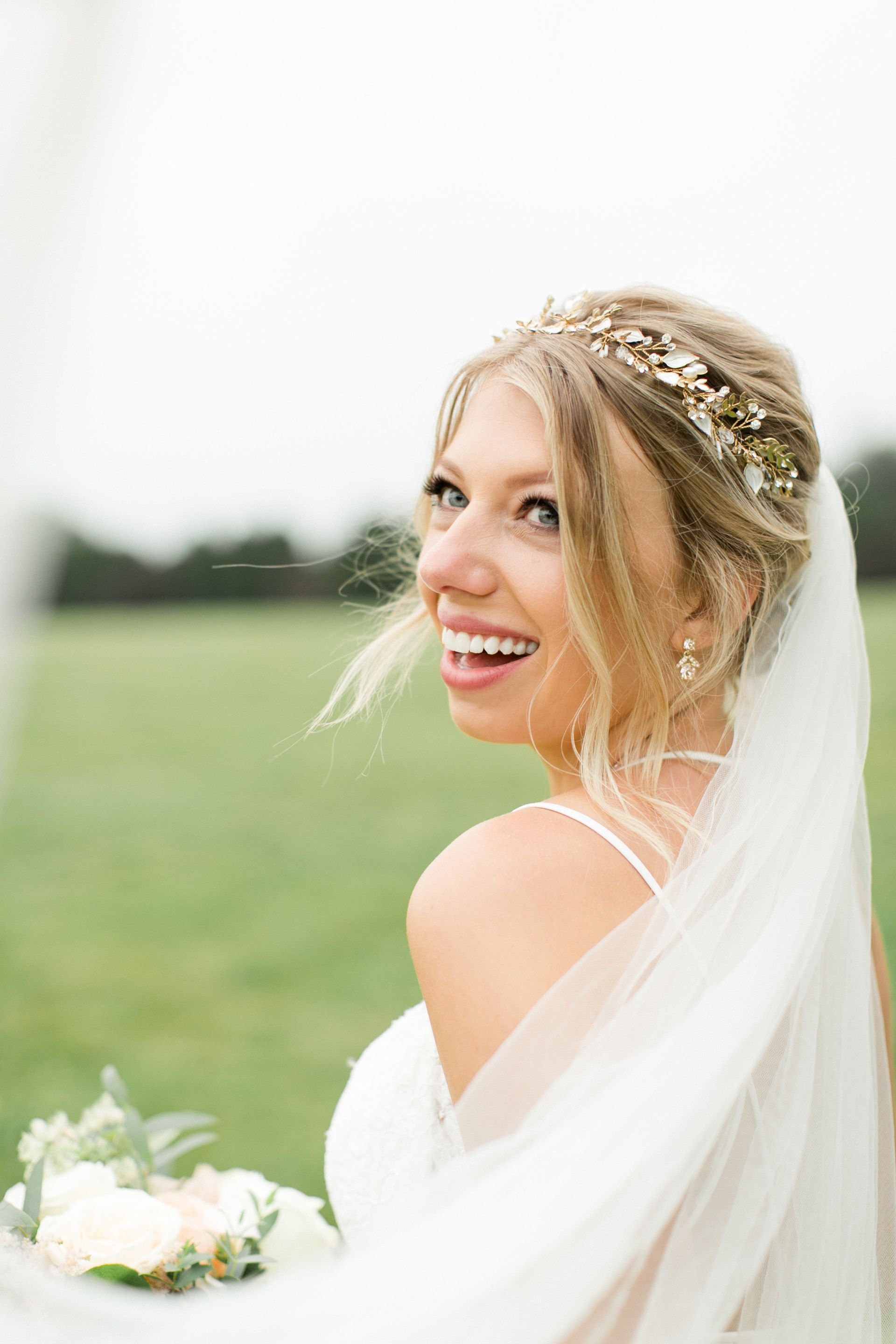 enchanted garden estate wedding | all dolled up hair | blush