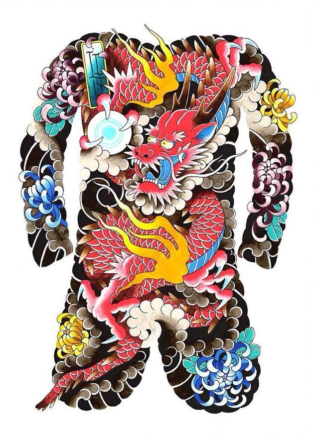 Irezumi of a dragon Irezumi, Irezumi tattoos