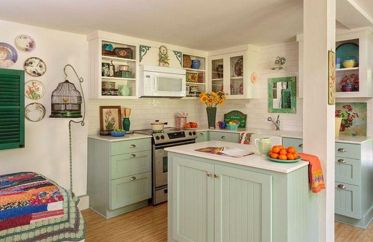 proposta per arredare in stile shabby chic cucina con mobile ...