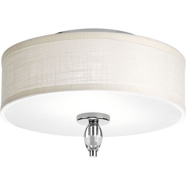Progress Lighting P3402-15 Status Chrome Steel and Porcelain 2-light Flush Mount