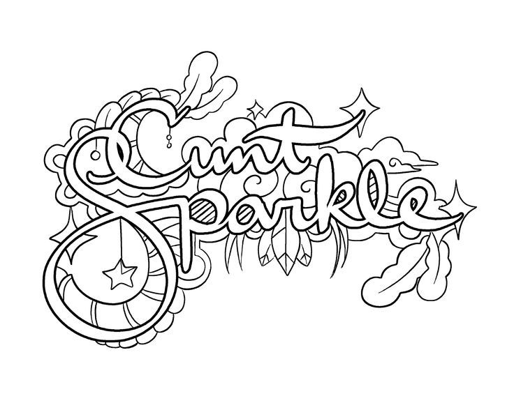 Coloring Pages Of Random Designs. Cunt Sparkle  Coloring Page by Colorful Language Posted with 72109bfc2db0c9affe148944da75dfaa jpg 736 568 random stuff