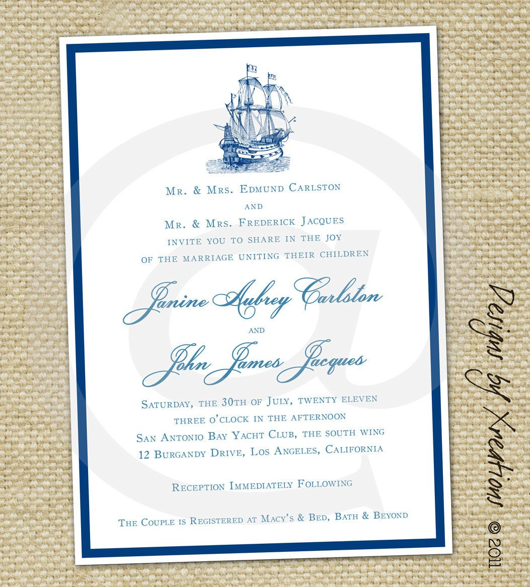 Boat Themed Wedding Invitations Best Invitations wedding ideas