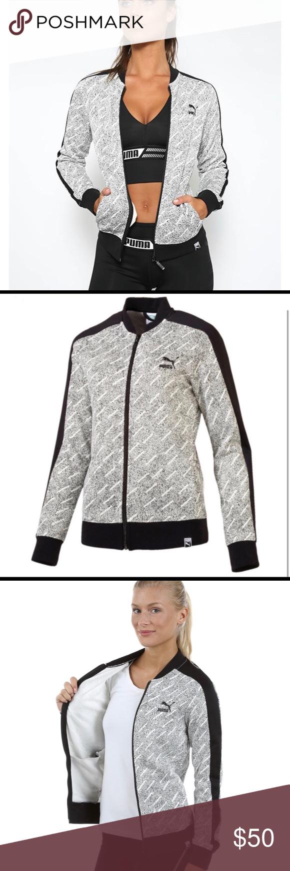 6c5eefb51617 NWT Puma Classic T7 AOP Black White Track Jacket Puma AOP T7 Track Jacket  Classic fit
