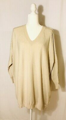 Lulus Women's Pullover Sweater Long Sleeve V-Neck Beige Color Casual Size Xs/S…