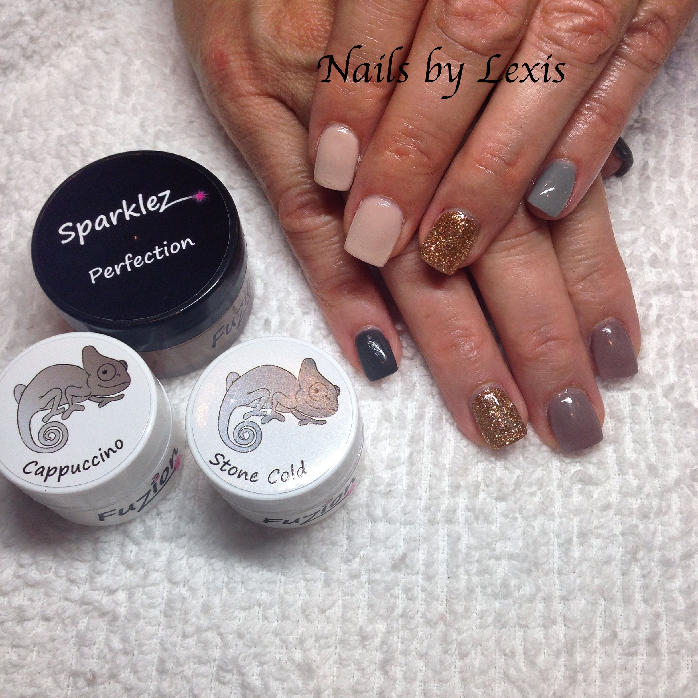 Fuzion Fall Gel Nails by Lexis!!! -Perfection -StoneCold -Cappucino ...