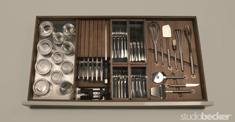 luxury modular kitchens   accessories accessorized drawer walnut   products   studio becker luxury modular kitchens   accessories accessorized drawer walnut      rh   pinterest com