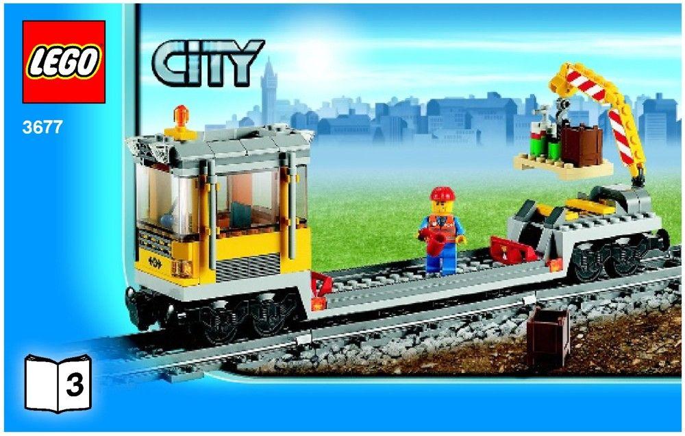 City Red Cargo Train Lego 3677 Lego Pinterest Lego Lego